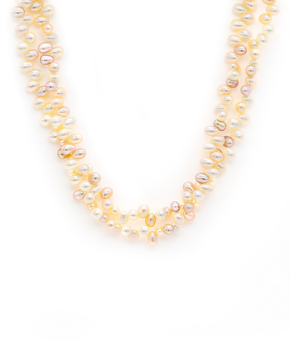 Perlenkette 750er Gelbgold