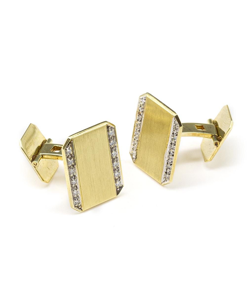 Manschettenknöpfe mit Brillanten 585er Gold