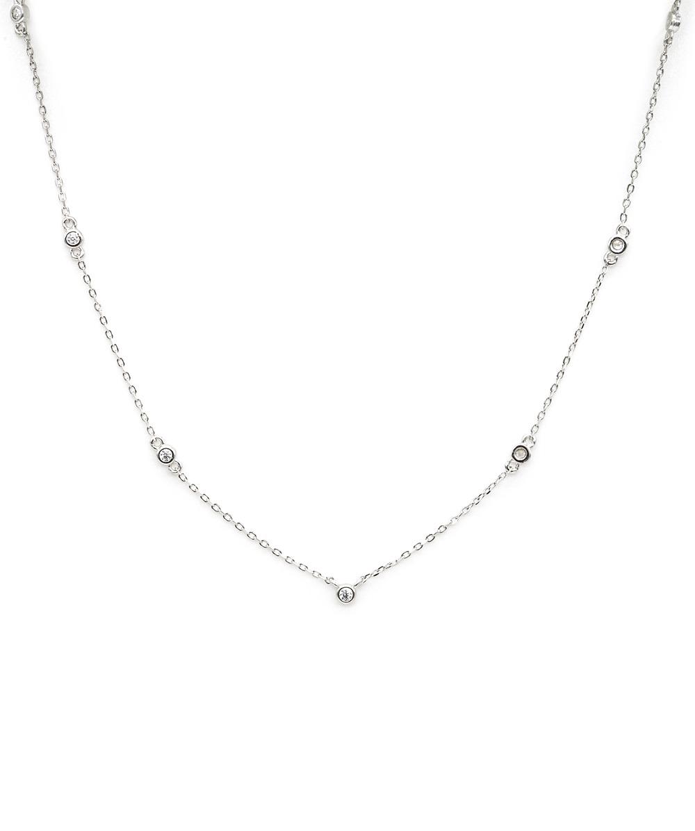 Halskette Zirkonia  925er Silber