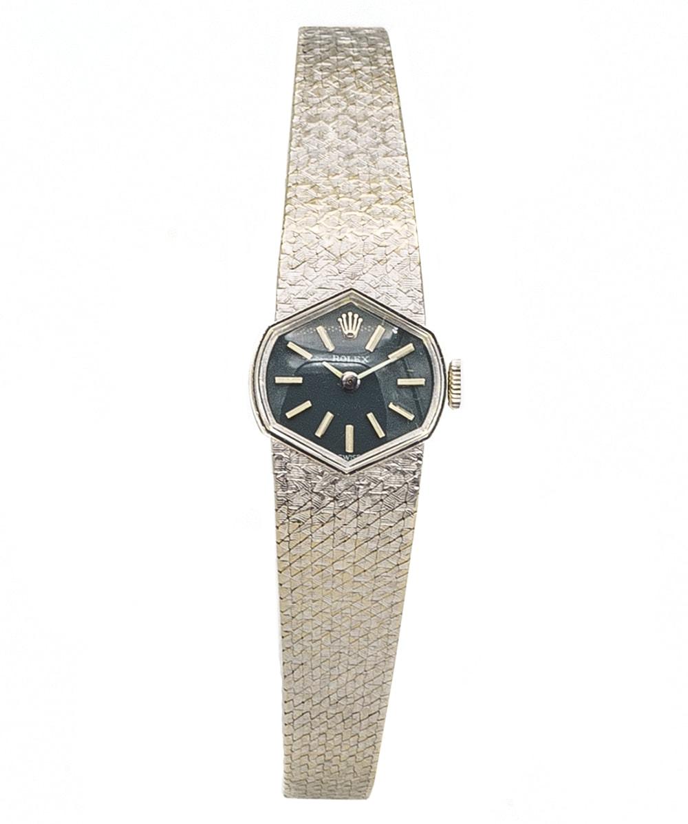 Rolex Damenuhr Vintage 750er Weißgold