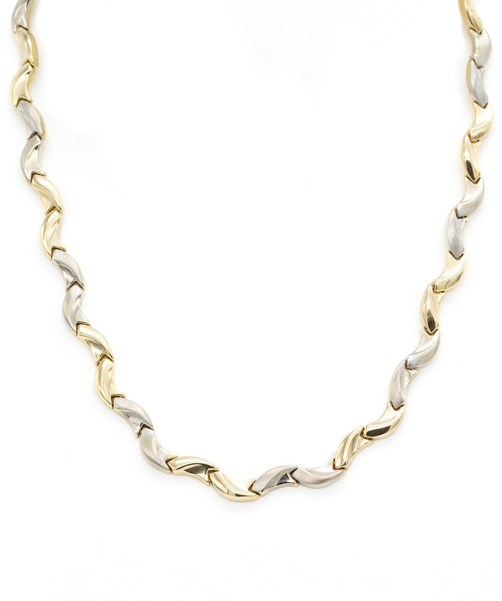 Halskette 585er Gold Bicolor