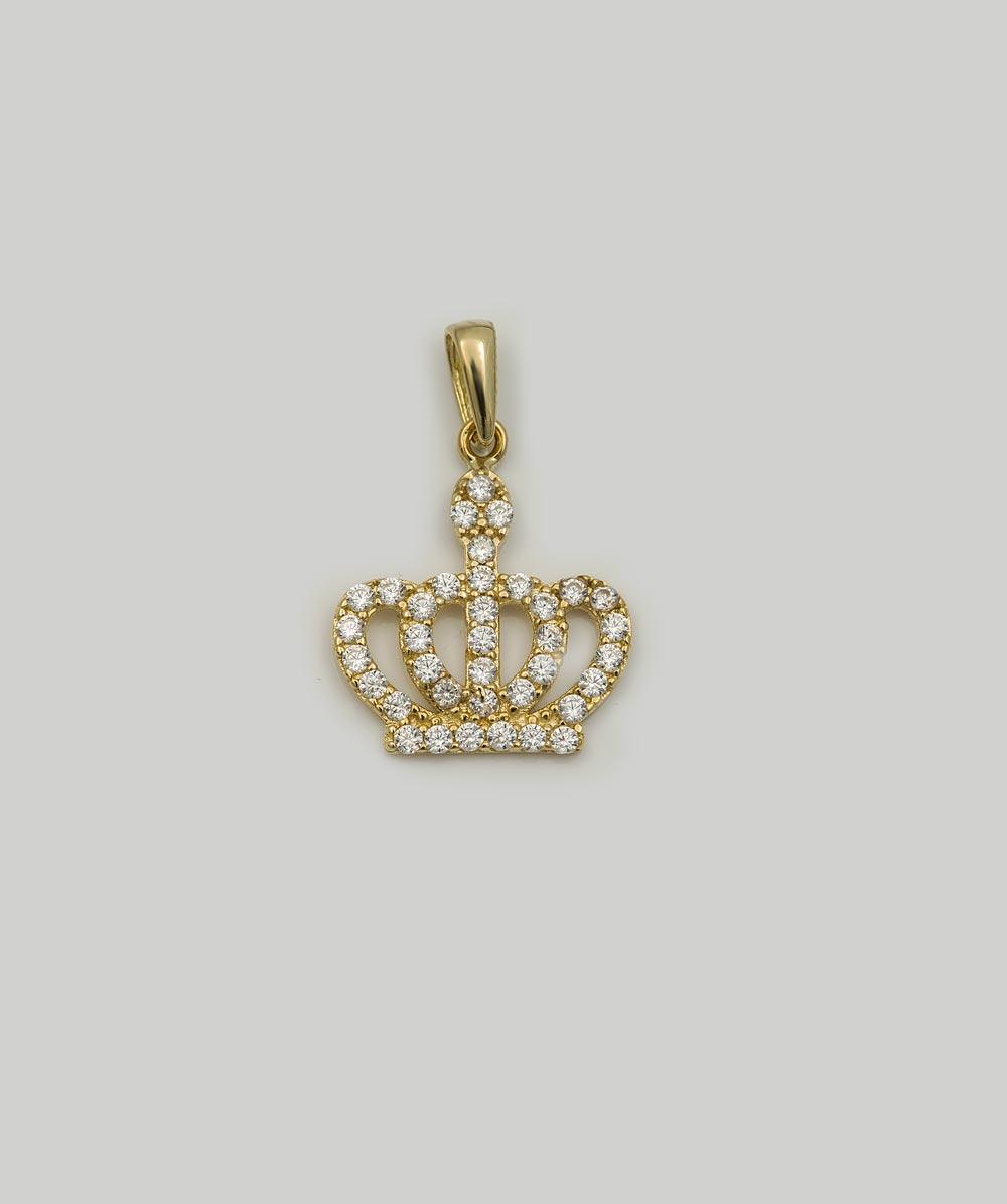 Anhänger Zirkonia Krone 333er Gold