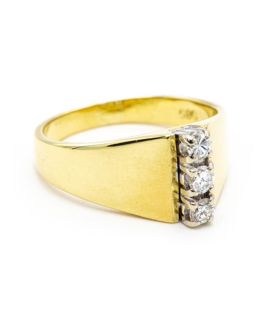 Ring mit Brillanten 585er Gold bicolor