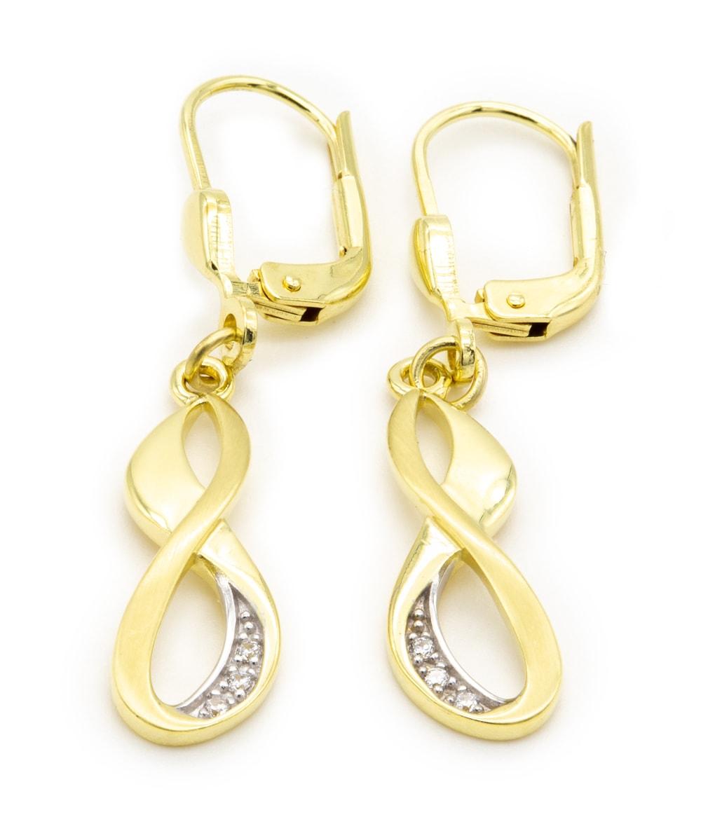 Ohrhänger mit Zirkonia 333er Gold Infinity