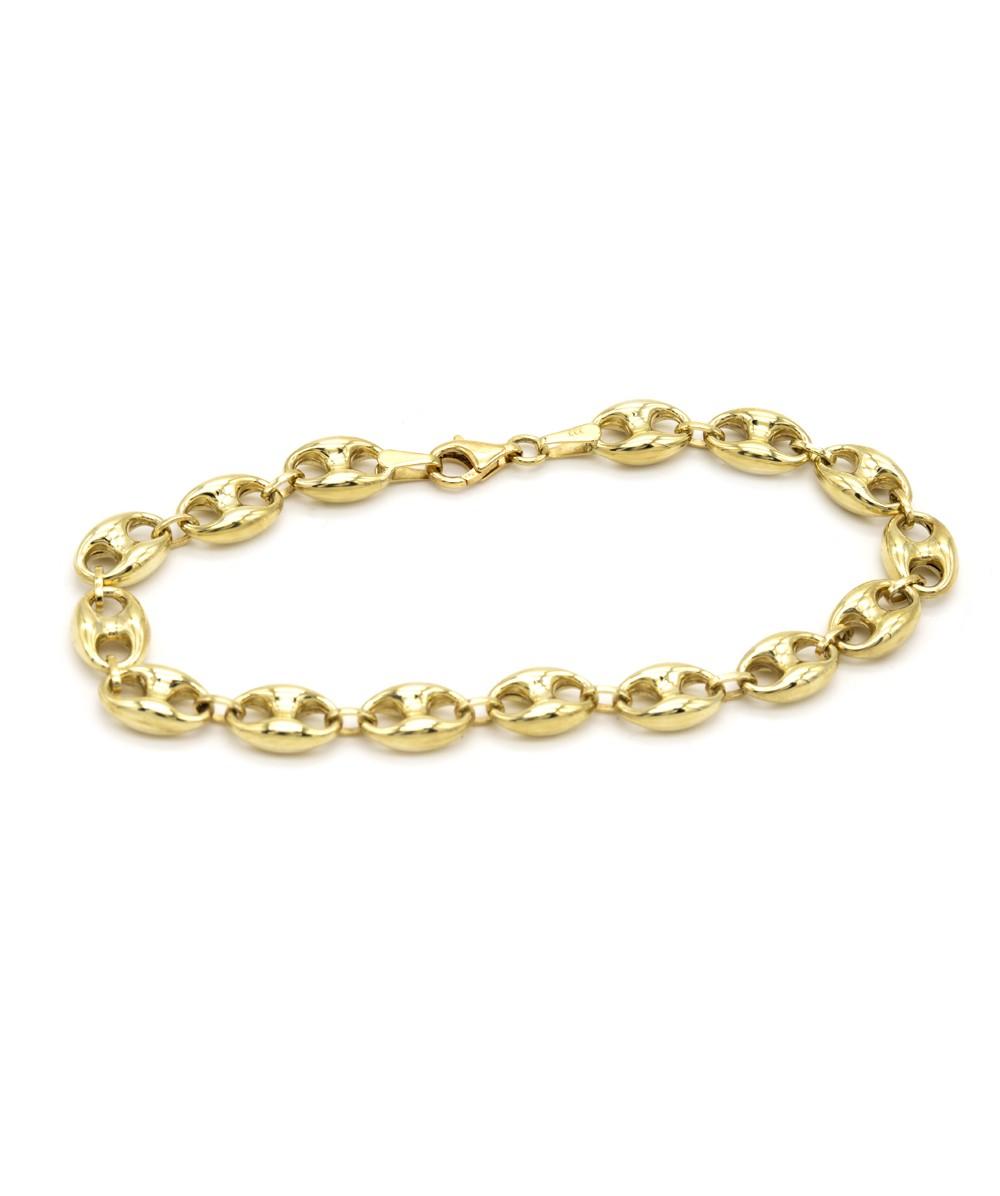 Armband Bohnenmuster 333er Gold