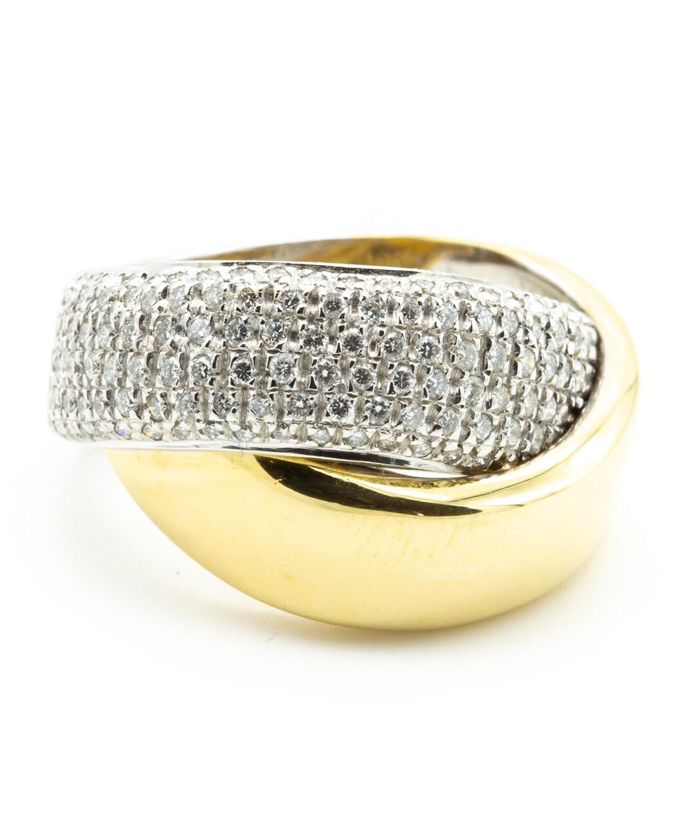 Ring mit Brillanten 750er Gold bicolor
