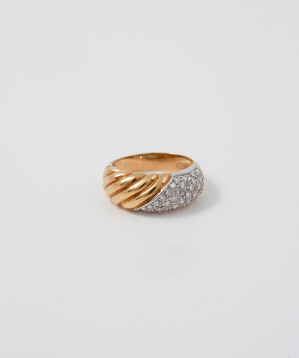 Ring Brillant 750er Gold bicolor