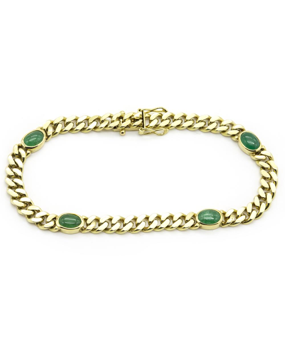 Armband mit Smaragden 585er Gold