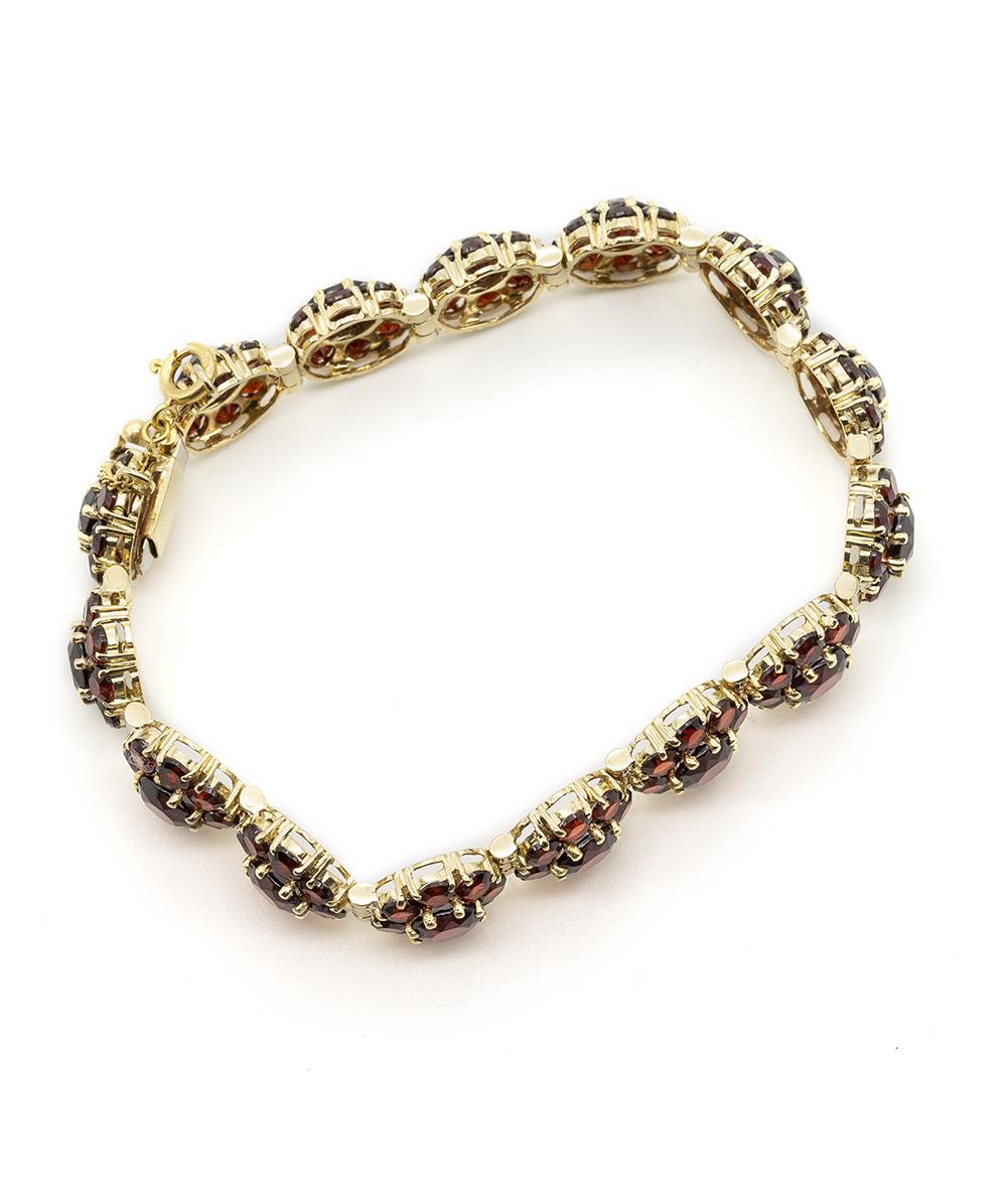 585er Gelbgold Armband mit Granat