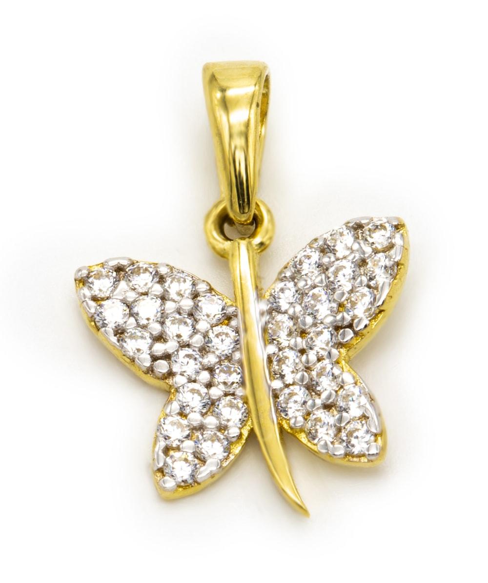 Anhänger Schmetterling 585er Gold