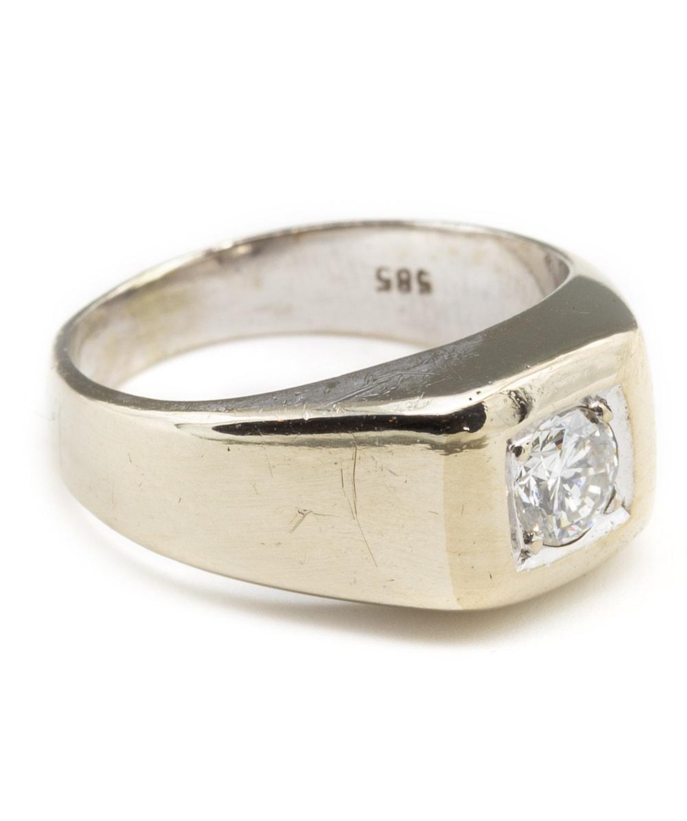 Ring mit einem Brillant 585er Weißgold