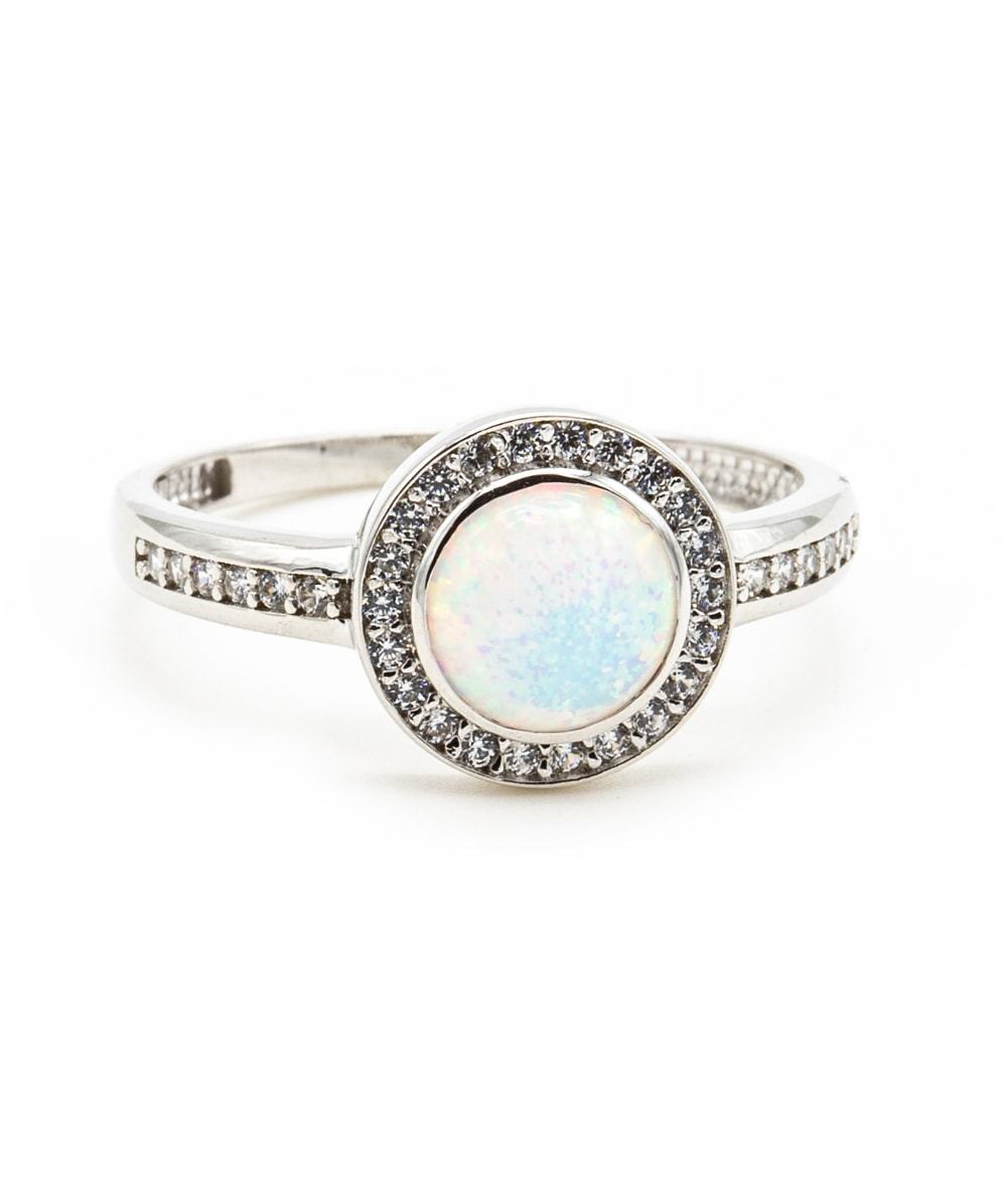 Ring Opal Zirkonia 925er Silber