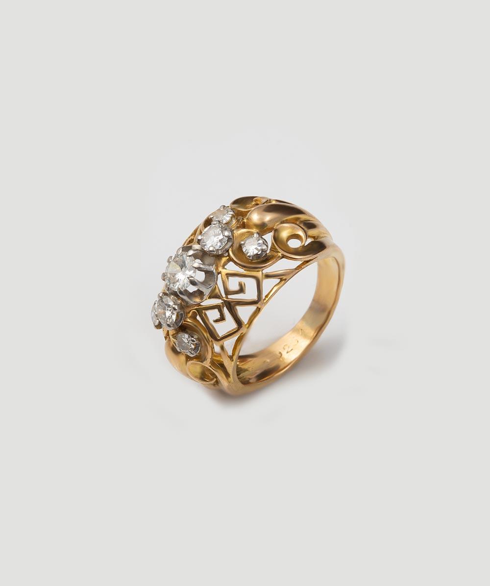Brillant/Diamantring 750er Gold