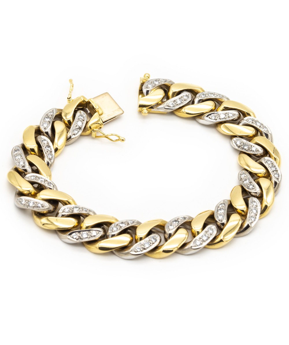 Armband Brillanten 750er Gold bicolor