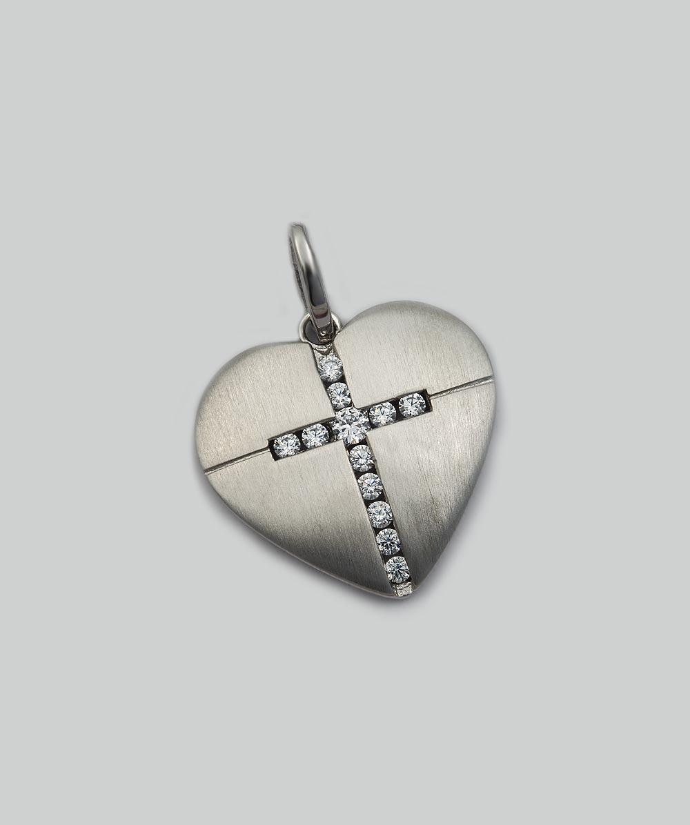 Anhänger Zirkonia Kreuz 925er Silber