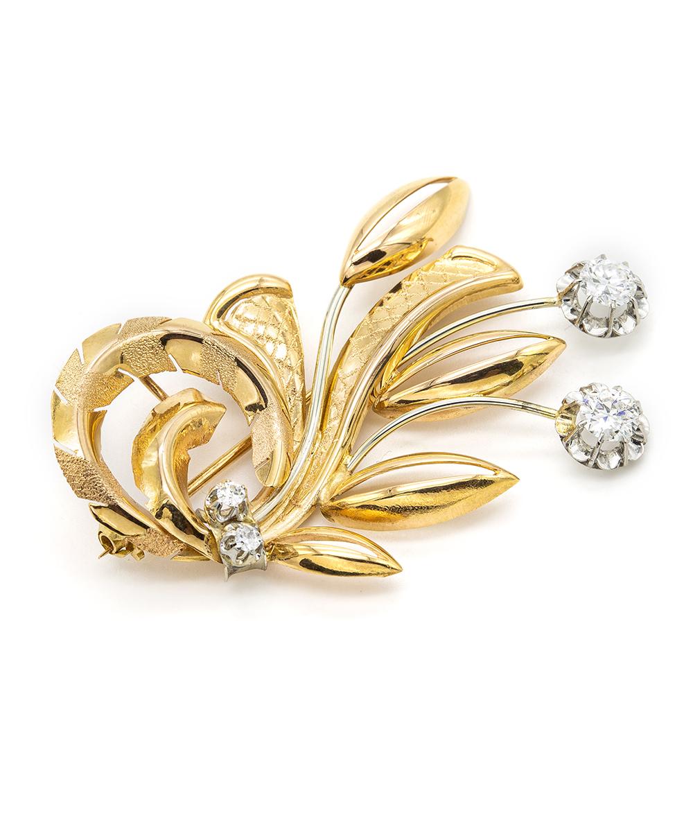Brosche Brillant 750er Gold
