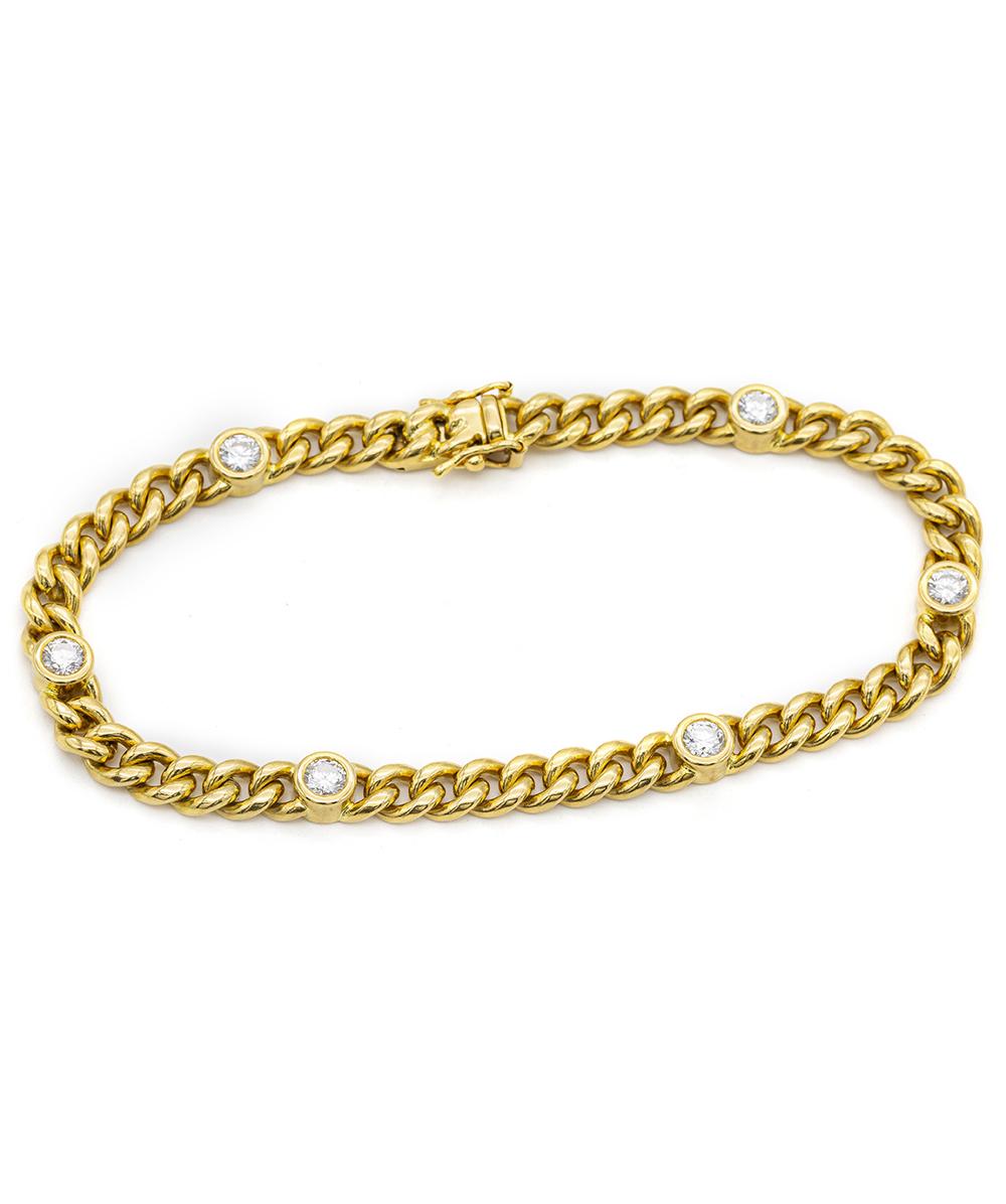 Armband mit Brillanten 750er Gelbgold