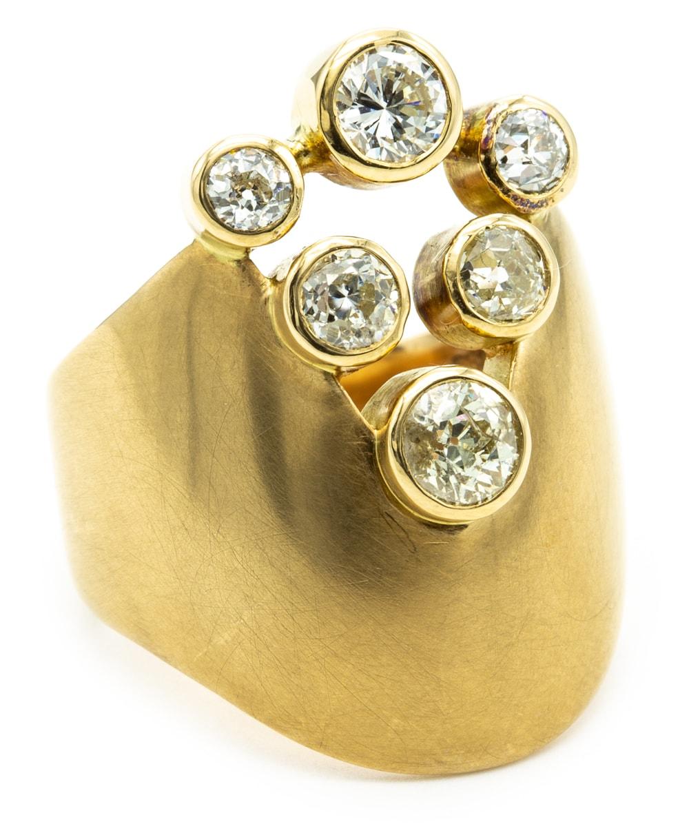 Ring mit Diamanten und Brillanten 750er Gold