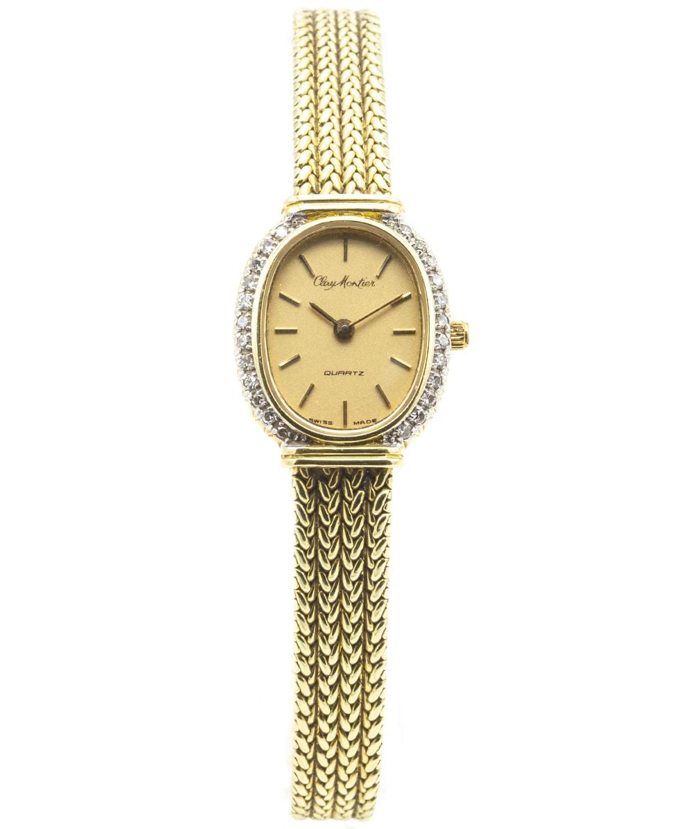 Damenuhr Diamanten 585er Gelbgold