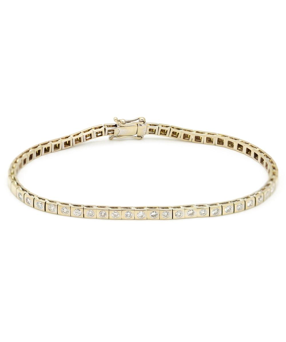 Armband mit Brillanten 750er Weißgold