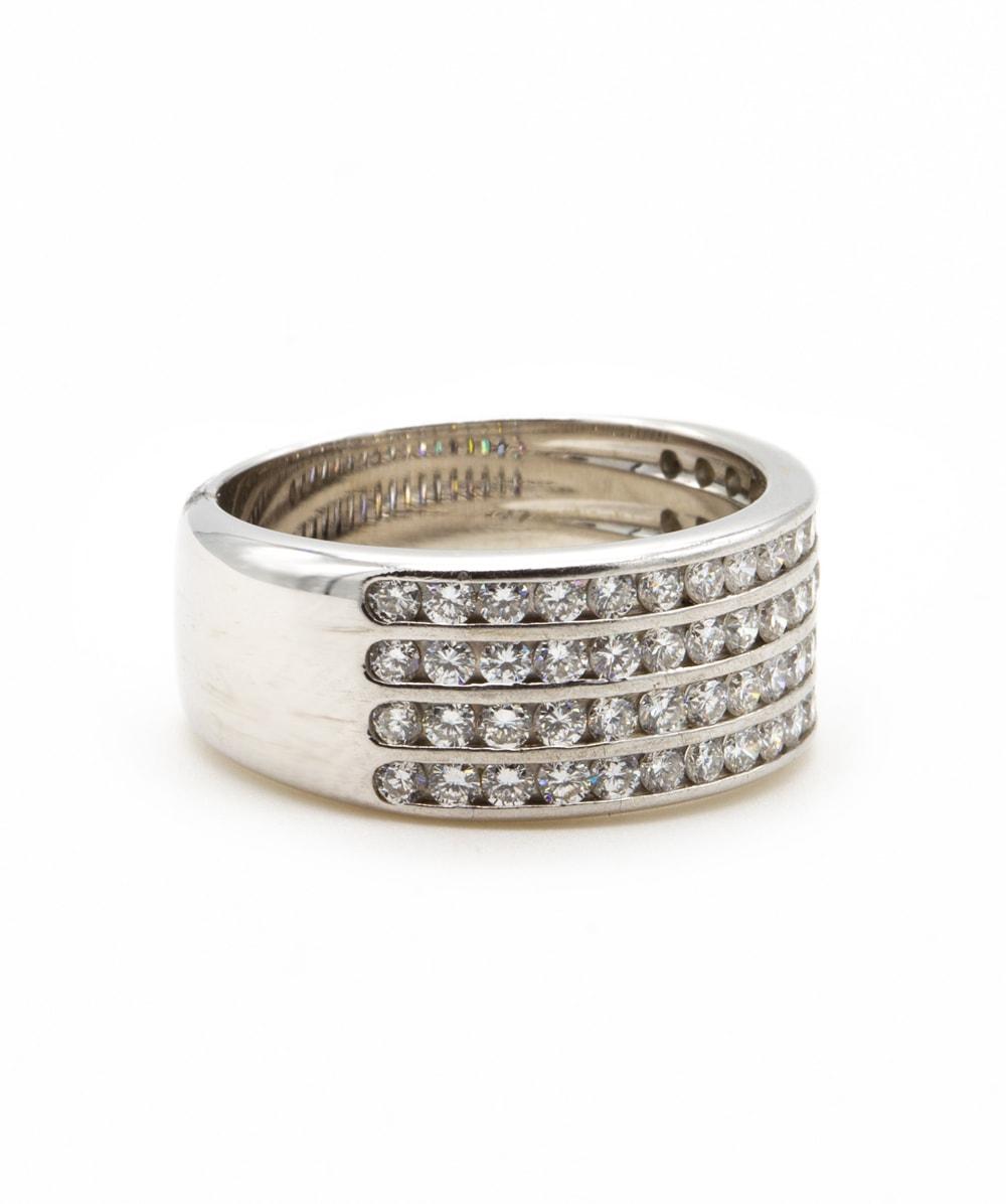 Ring mit Brillant 750er Weißgold