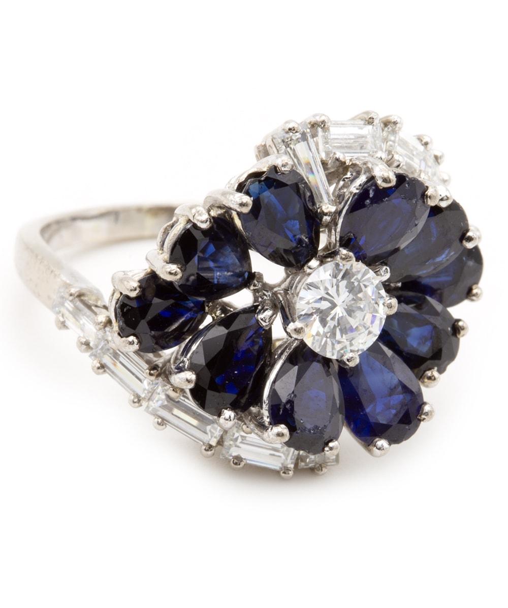 Ring mit Brillanten und Diamanten 750er Weißgold