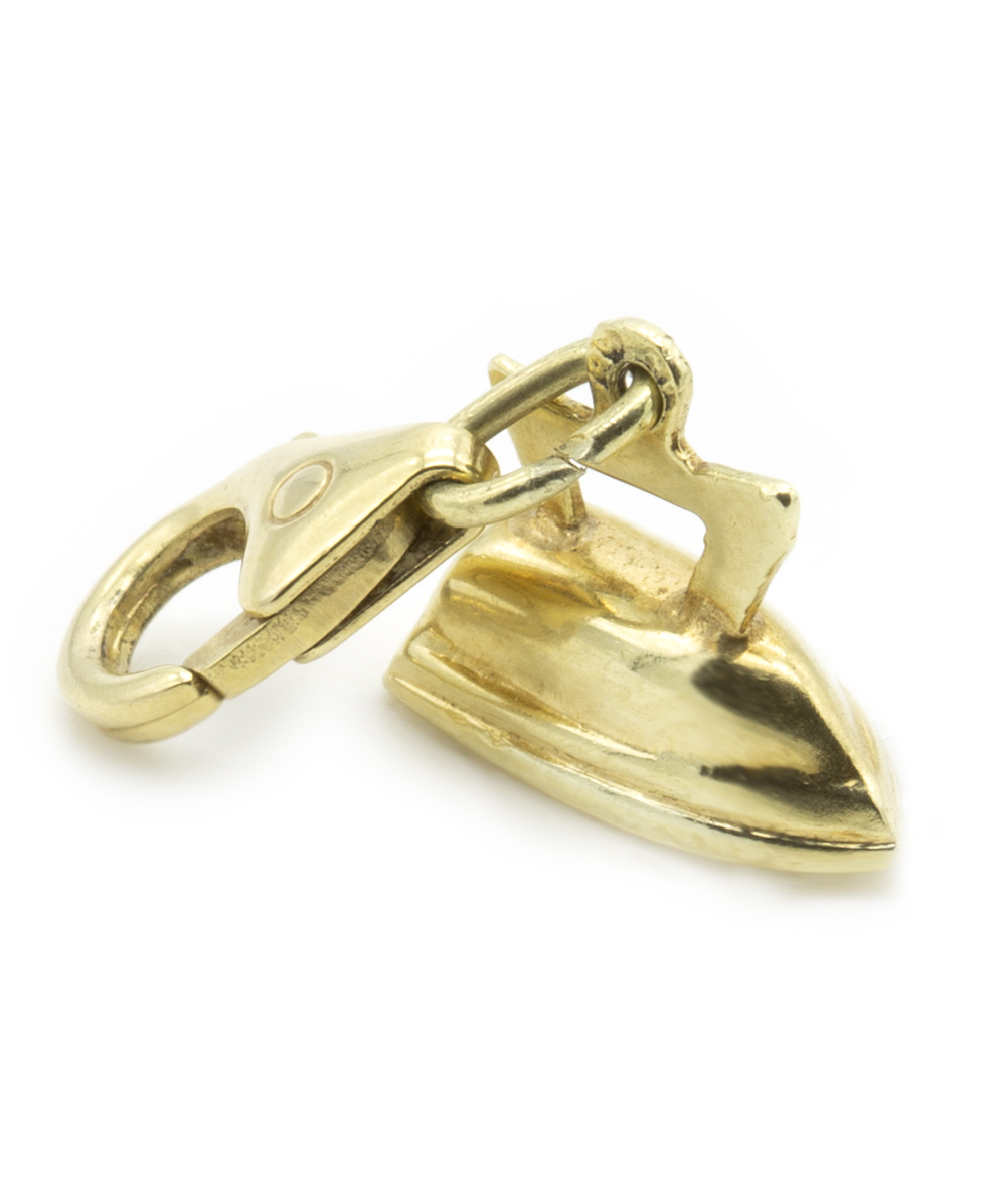 Anhänger Bügeleisen 585er Gold