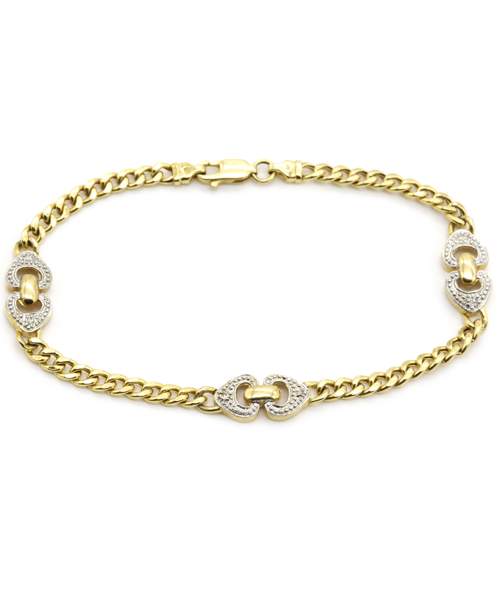 Armband mit Brillanten 333er Gold