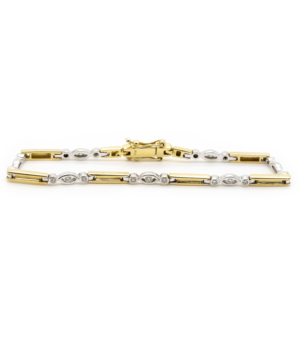 Armband mit Brillanten 750er Bicolor Gold
