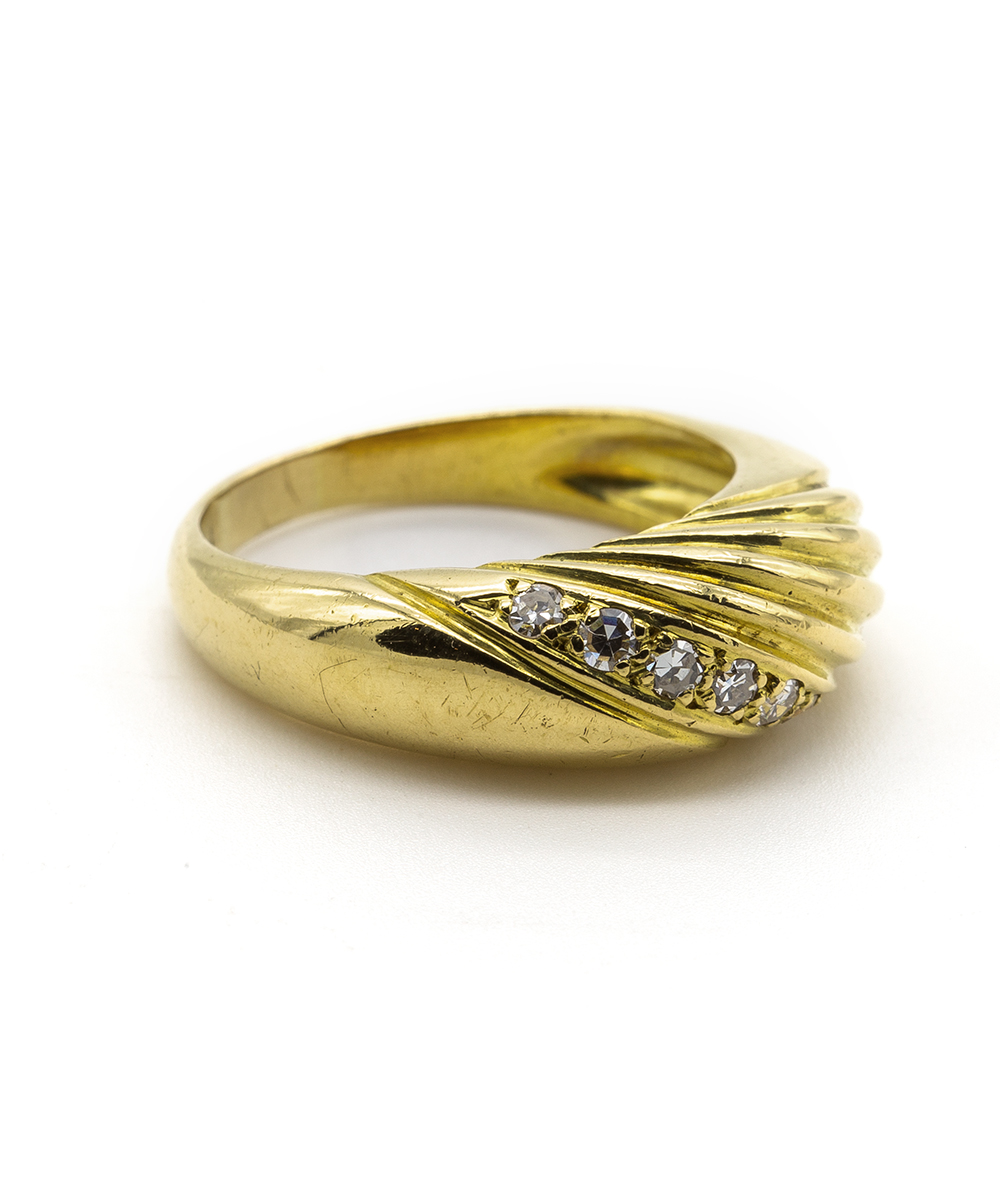 750er Gelbgold Ring