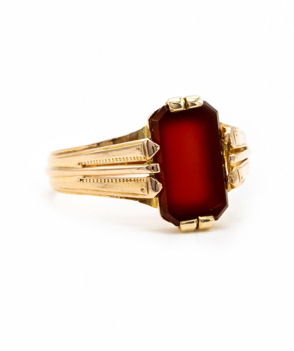 Ring Carneol 585er Gold