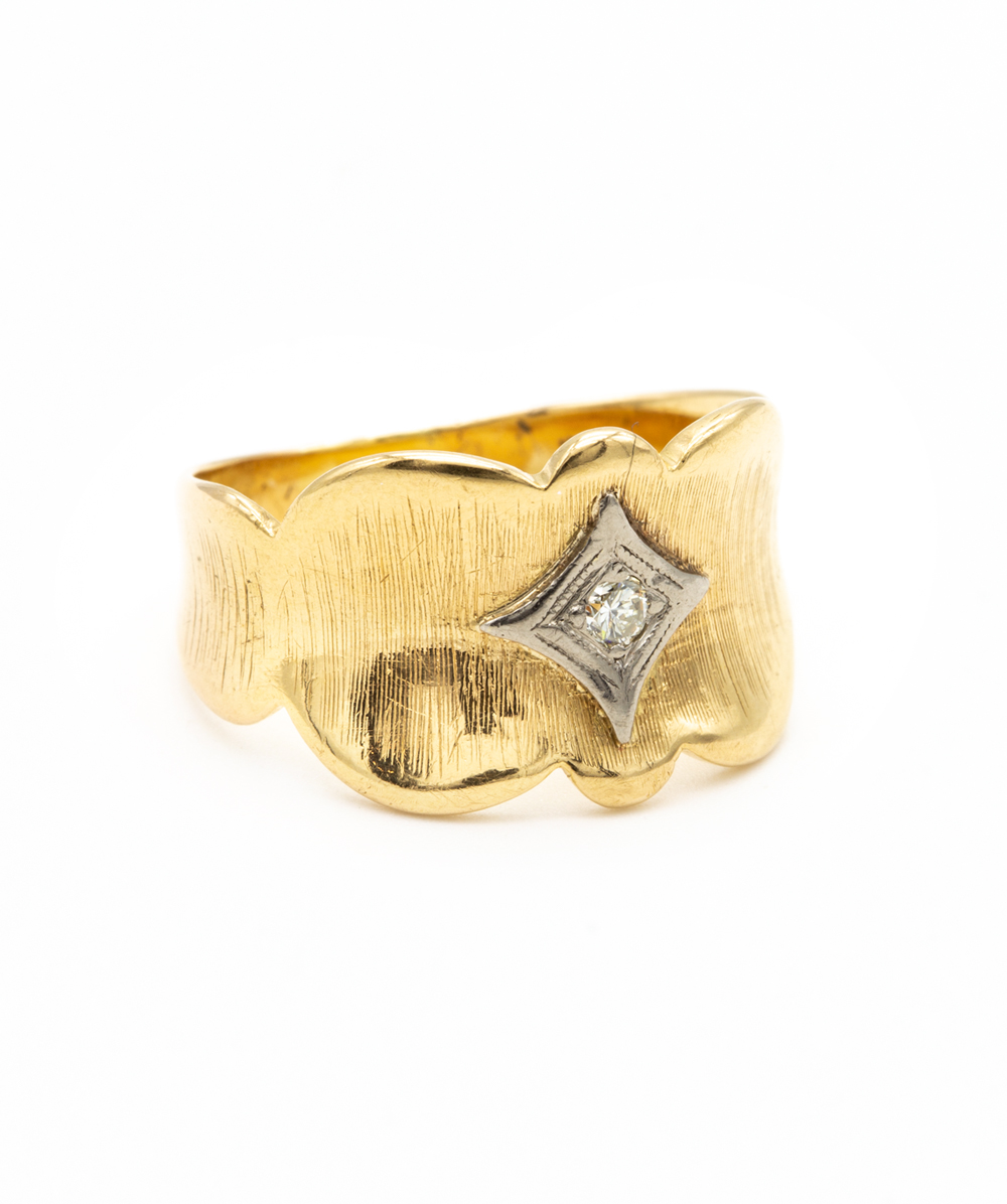 Ring Brillant 750er bicolor