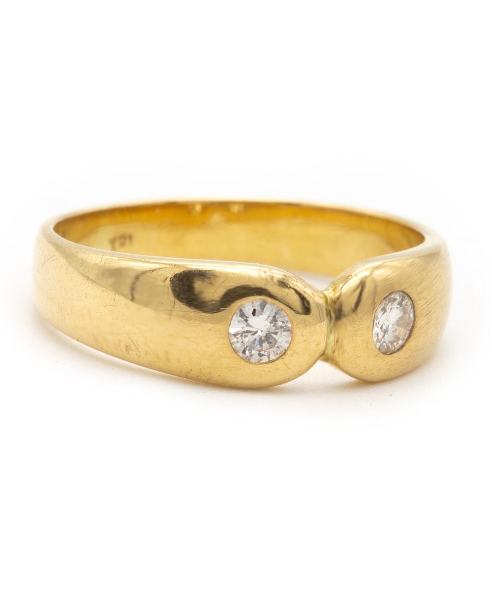 Ring Brillanten 750er Gelbgold