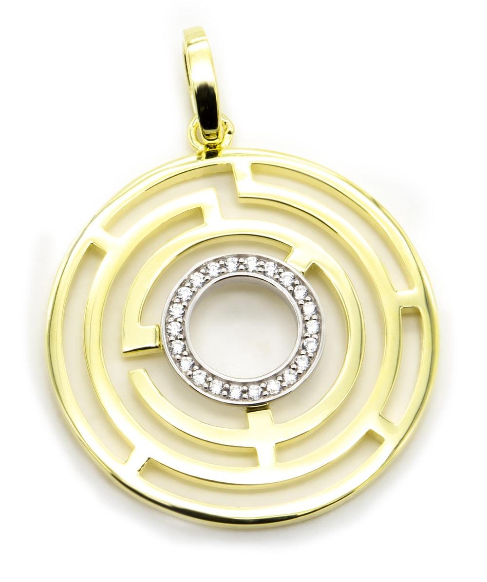 Anhänger mit Zirkonia 925er Silber vergoldet