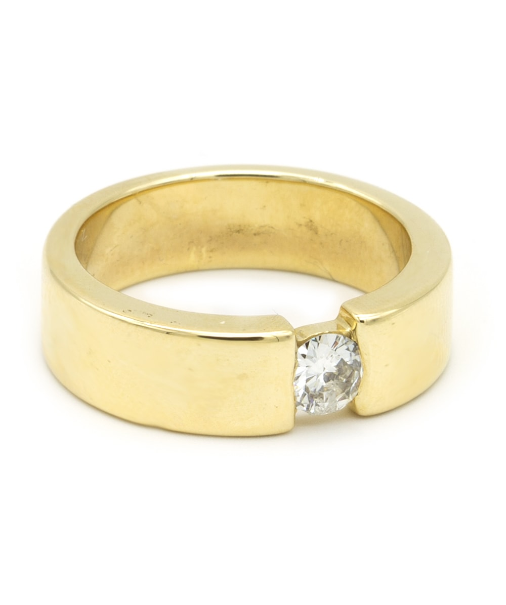 Ring mit Brillantsolitär 585er Gold