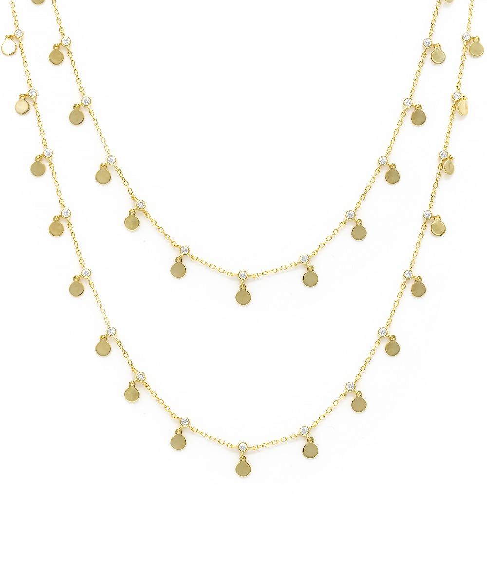 Halskette Zirkonia 925er vergoldet Silber