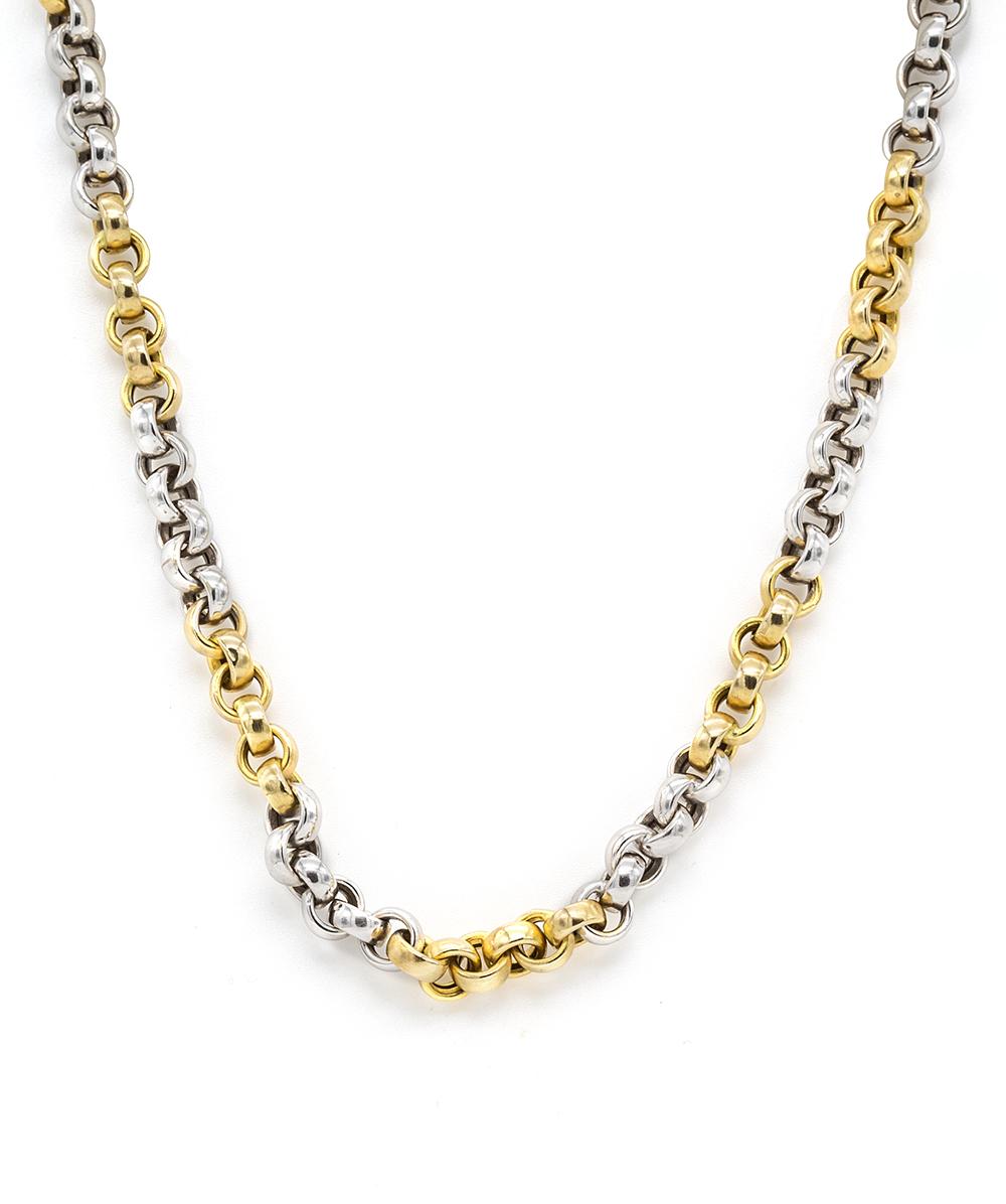 Halskette 585er Gelbgold Bicolor