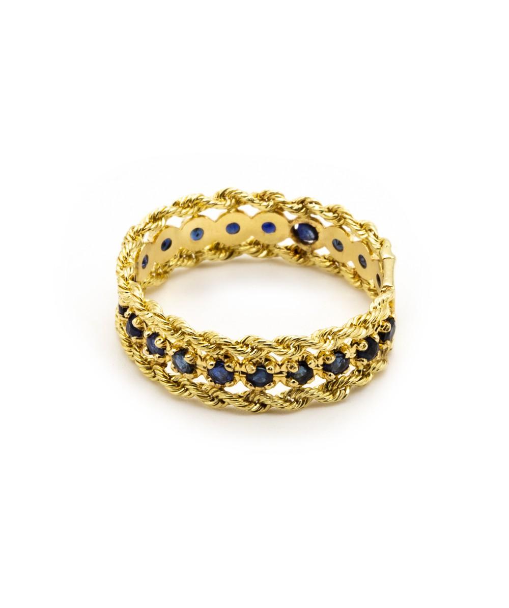 Ring Farbsteine 585er Gelbgold