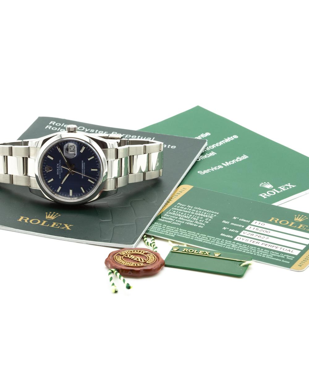 Rolex Oyster Perpetual Date Stahl 115200