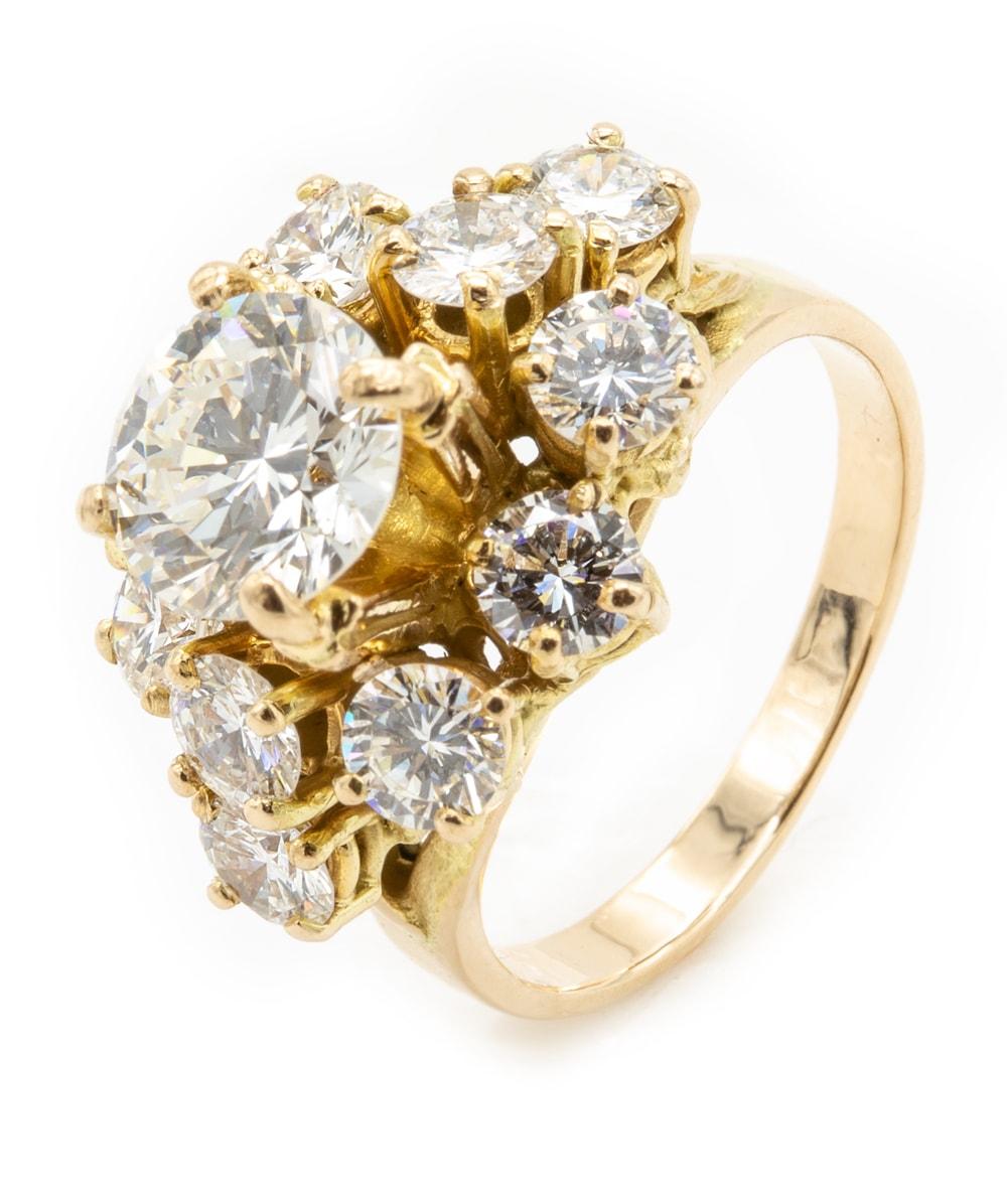 Ring mit Brillanten 750er Gold mit Expertise