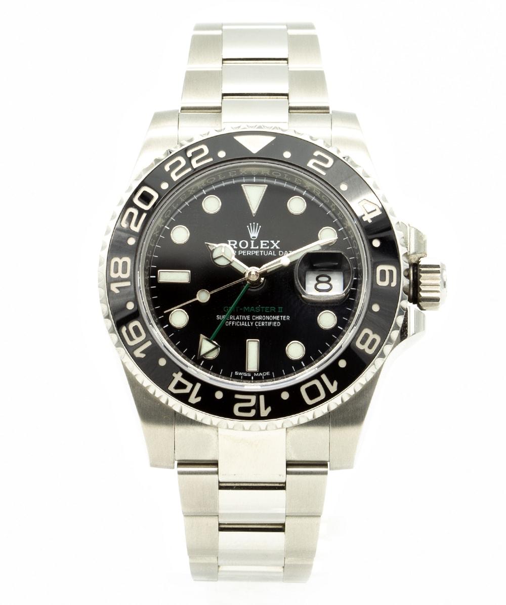 Herrenuhr stahl Rolex GMT Master II 116710LN