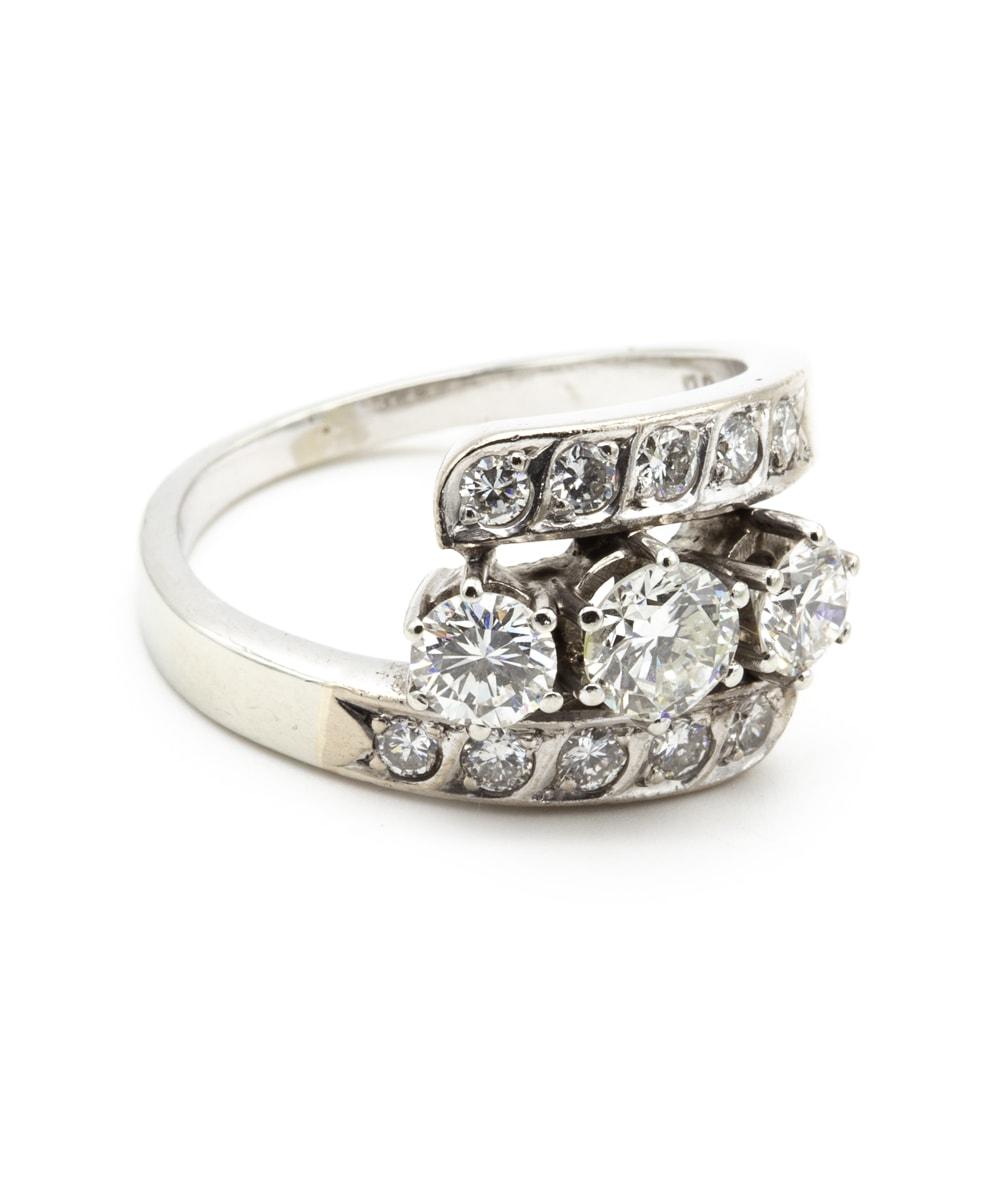 Ring Brillant 750er Weißgold