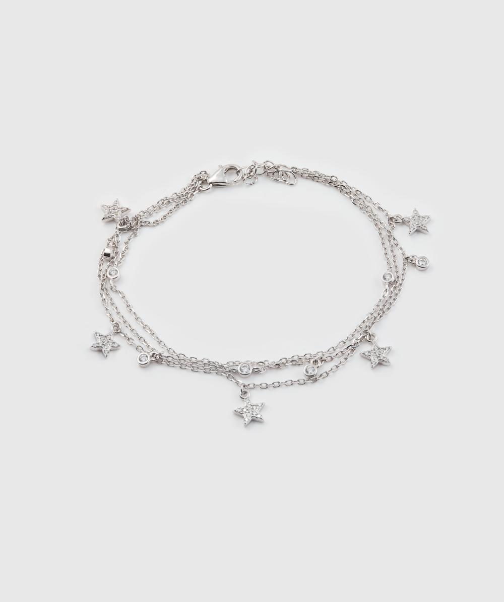 Armband Zirkonia mit Sterne 925er Silber