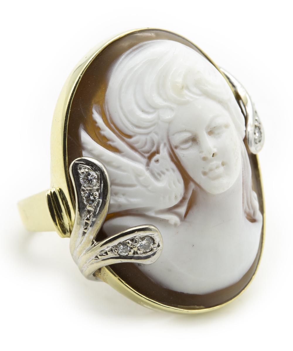 Ring mit Gemme Brillant 585er Gold