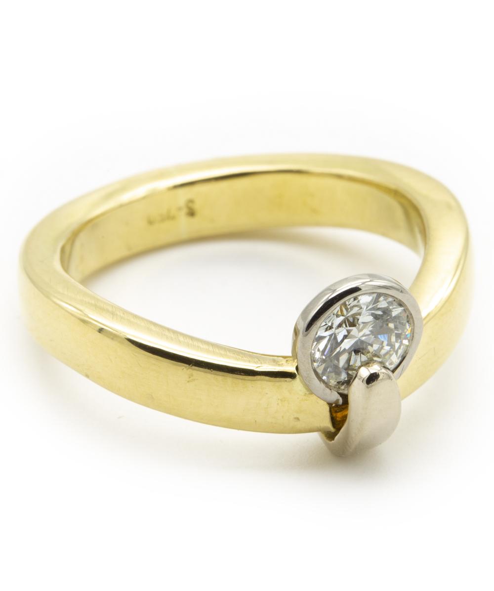 750er Bicolor Ring