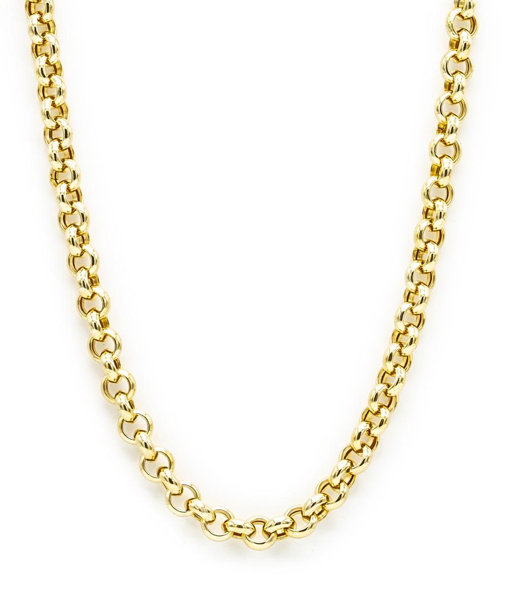 Halskette Erbsmuster 750er Gold
