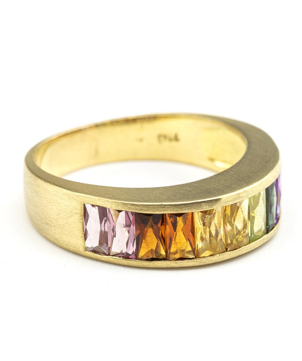 Ring mit Farbsteinen 750er Gold
