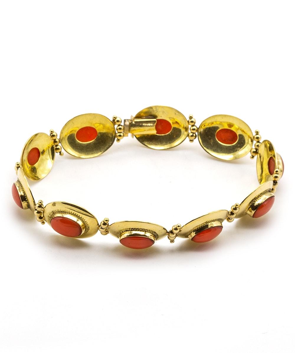 Armband mit Korallen 750er Gold