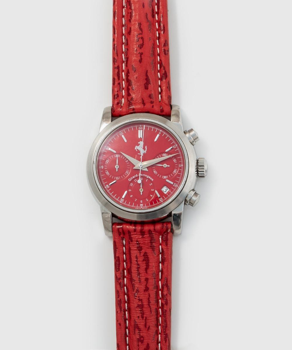 Herrenuhr Chronograph Ferrari, Girard Perregaux AN 3256 Leder/Metallband