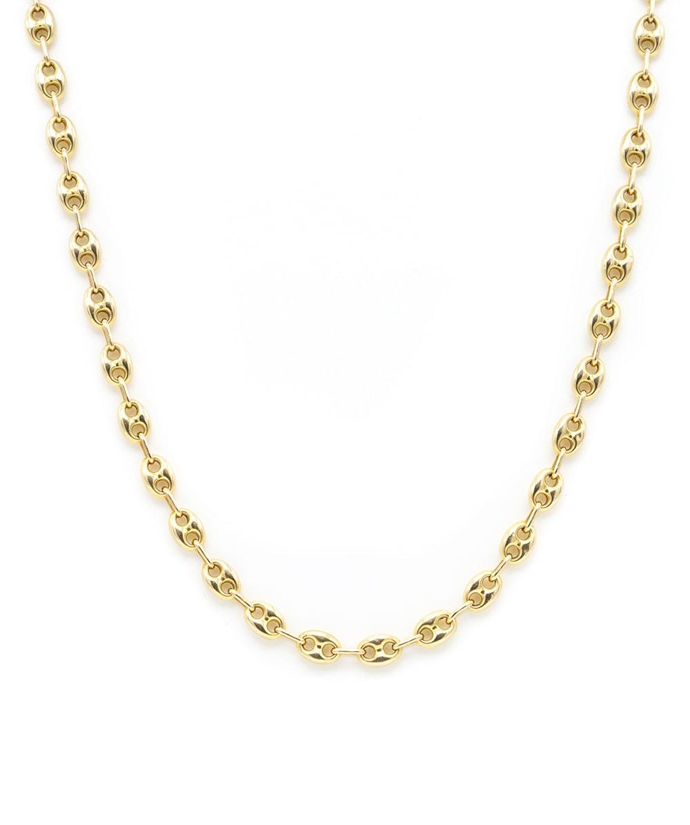 Kette Bohnenmuster 585er Gold